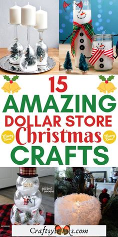 15 Amazing Dollar Store Christmas Crafts These dollar tree Christmas crafts are so fun to make with your family and friends. Try these dollar tree holiday decor ideas and have fun crafting with kids. #dollartree #christmas #crafts #diy<br> Make these holiday crafts wreaths this Christmas and have fun crafting. Get some Christmas inspiration for decorations at home and make your very own wreath. #Christmas #wreath #crafts