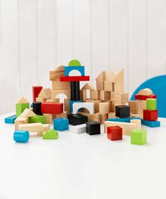 Take a look at this Wooden Block Set by KidKraft on #zulily today!