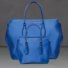 Ermanno Scervino klein blue silk satin tote bag F/W 2014-15 rocks our weekend! DISCOVER MORE > http://www.ermannoscervino.it/woman/accessories/bags/ #ermannoscervino #bepartofourfashionstory