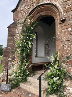 Snaps, foxgloves, roses, eremurus , cow parsley St Cuthbert, Cow Parsley, Church Wedding Decorations, Wedding Flowers, Arch, Roses, Summer, Longbow, Summer Time