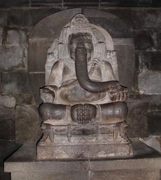 Shri Ganesh! Ganesha statue in 9th century Prambanan temple, Java, Indonesia (via Wikipedia)