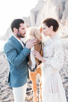 Kiara and Jake   George Liopetas Wedding Couples, Wedding Bride, Wedding Decor, Anthropologie Wedding, Seashell Wedding, Couture Wedding Gowns, Santorini Wedding, Romantic Destinations, Bridal Musings