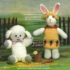 -Crochet Easter Bunny and lamb Pattern  murabar.site88.net