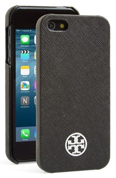 Tory Burch 'Robinson' Saffiano Leather iPhone 5 & 5s Case available at #Nordstrom