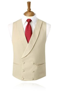 Buy Dobell Gold/Buff Double Breasted Shawl Lapel Morning Suit Waistcoat with FREE delivery and FREE returns Morning Coat, Morning Dress, Double Breasted Waistcoat, Men's Waistcoat, Vest And Tie, Suit Vest, Groom Morning Suits, Nehru Jacket For Men, Vest Men