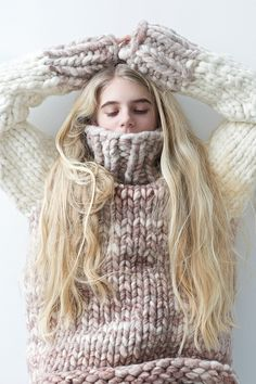 chunky knit sweater by lebenslustiger.com