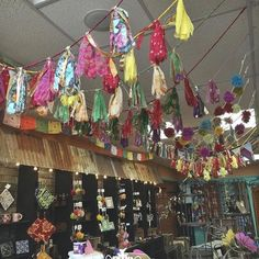 Our fabulous garlands handmade from recycled Silk Saris in India are back in stock! Hang a strand of this garland anywhere for a pop of color and to think about the amazing women who made them and the ones who once wore the beautiful sari they're made from  #sari #empowerwomen