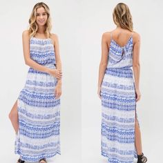 Blue Boho Maxi Dress Brand New! All items are from my boutique I own. TIMING Dresses Maxi