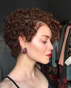 Short Curly Pixie, Curly Pixie Hairstyles, Short Curly Haircuts, Curly Hair Cuts, Wavy Hair, Short Hair Cuts, Curly Hair Styles, Tapered Natural Hair, Hair Affair