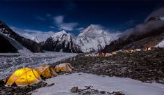K2 From Broad Peak Base Camp, by Xec Oliver