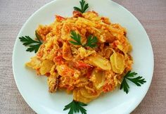 A gentleman with a recipe photo Hungarian Cuisine, Hungarian Recipes, Green Eggs And Ham, Potato Recipes, Food Photo, Macaroni And Cheese, Casserole, Cabbage, Brunch