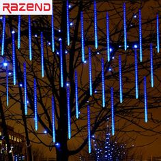 Cheap string lights outdoor, Buy Quality string lights directly from China holiday lights Suppliers: Meteor Shower Rain Tube LED Christmas Light Wedding Garden Xmas String Light Outdoor Holiday Lighting Led Christmas Lights, Holiday Lights, Christmas Holidays, Christmas Ideas, String Lights Outdoor, Outdoor Lighting, Light String, Meteor Rain, Garden Wedding Decorations