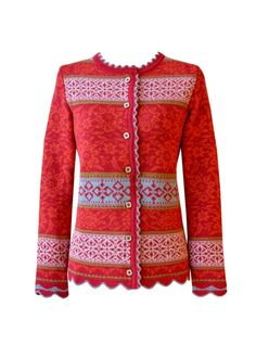 OLEANA Norway - The knitwear is high quality and a good alternative to classic costume jackets. Perfect for the Dirndl. Knitting Wool, Fair Isle Knitting, Norwegian Fashion, Knitwear Fashion, Contemporary Fashion, Knit Cardigan, Clothes For Women, My Style, Crochet