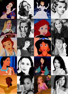 The voice actresses of the Disney princesses.