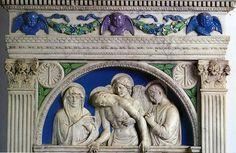 Luca della Robbia - La Pietà - 1441-1442 - Chiesa di  Peretola Firenze
