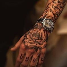Hand Tattoo Ideas For Men - Best Tattoo Ideas For Men: Cool Tattoos For Guys - Find Badass Designs and Drawings For Inspiration Rose Tattoos For Men, Hand Tattoos For Guys, Great Tattoos, Small Tattoos, Tattoos For Women, Mens Forearm Tattoos Small, Temporary Tattoos, Meaningful Tattoos For Guys, Tatto For Men