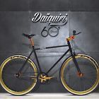 700c Fixed Gear DAIQUIRI Fixie Single Speed Bike Bicycle Black Matt D1 57c Track