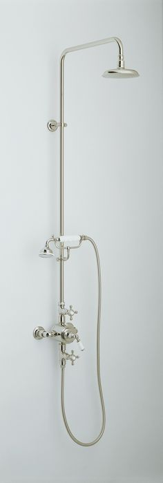 Victorian Exposed Shower Set with with Hand Held Shower and 200mm ...