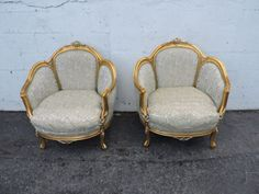 French-Carved-Pair-of-Gold-and-Silver-Leaf-Vintage-Chairs-w-Down-Cushions-8063