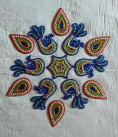 Flexible Rangoli Clay Crafts, Arts And Crafts, Designs Rangoli, Acrylic Rangoli, Peacock Rangoli, Diwali, Wedding Gifts, Creative, Wedding Day Gifts