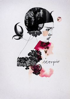 Scorpio: Zodiac Signs by Ekaterina Koroleva, via Behance