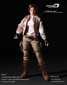 onesixthscalepictures: Phicen Laura II (Lara Croft Tombraider 2) : Latest product news for 1/6 scale figures (12 inch collectibles).