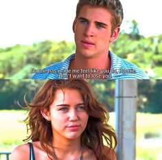 Dont Want To Lose You, Sparks Movies, Miley And Liam, Best Movie Quotes, The Last Song, Nicholas Sparks, Romantic Movies, Losing You, Chris Hemsworth