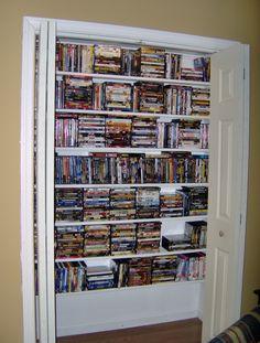 closet dvd storage