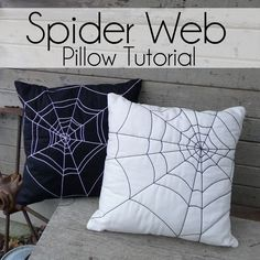 Pieces by Polly: Quilted Spider Web Pillows