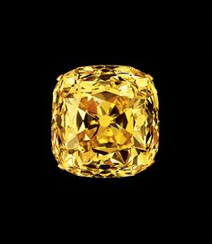 Tiffany & Co. is synonymous with the yellow diamond. Founder Charles Tiffany, known Discovered in 1877 at South Africa's Kimberley mine, the Tiffany Yellow has a stunning, richly saturated hue not seen in many yellow diamonds. It was a magnificent 287.42 carats when discovered, but was later transformed into a 128.51 carat cushion cut with 82 facets, which gives the diamond a timeless, antiquated look that maximizes the depth of its color.