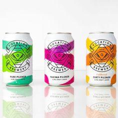 Beer branding design - Showcase of the Coolest Beer Can Packaging Designs – Beer branding design Beverage Packaging, Bottle Packaging, Brand Packaging, Packaging Design, Label Design, Branding Design, Coffee Packaging, Food Packaging, Typography Design
