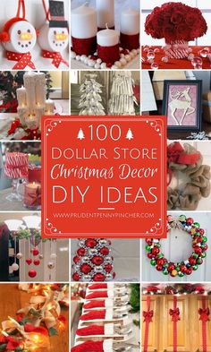 100 dollar store diy christmas decorations christmas christmasdecor - Cute Diy Christmas Decorations