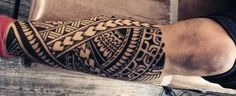 Discover jagged edges and interlaced patterns with the top 60 best tribal leg tattoos for men. Explore cool design ideas from Maori to Hawaiian and more. Maori Leg Tattoo, Polynesian Leg Tattoo, Tattoo Tribal, Maori Tattoo Designs, Forearm Tattoo Design, Leg Tattoo Men, Hawaiian Tattoo, Arm Tattoos For Guys, Trendy Tattoos