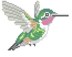 Hummingbird counted cross-stitch chart Designed by Elizabeth Lisa Overduin Stitch Count: 60H x 45W Whole Stitches Only  This counted cross-stitch pattern comes in a PDF file which will be available for download after purchase. PLEASE NOTE THAT THIS DESIGN IS NOT AVAILABLE IN STORES. IT IS PURCHASABLE ONLY THROUGH ME.