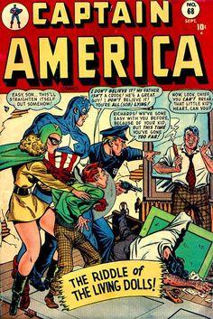 Captain America Comics # 68 by Charles Nicholas