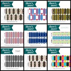 "But wait, there's more!! Jamberry offers a handful of designs that are ""There's More!"" designs. This means that the sheet of wraps for that design has more than one design on it! Check these out! Go to http://jamwithsonya.jamberrynails.net/color/TheresMore and click each one to view the different patterns on that sheet."