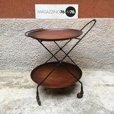 Carrello portavivande, richiudibile, in metallo con vassoii di teak estraibili. Ruote in ottone  1950 circa Isa Ponte san pietro Italia Misure su richiesta. #magazzino76 #viapadova #M76 #milano #nolo #modernariato #antiquariato #vintage #design #stilenordico #carrello #anni50 #anni60 #isa #isapontesanpietro #solocosebelle #comprodesign #teak #acquistodesign #acquistomodernariato #compromodernariato #acquistovintage #comprovintage #solocoseoriginali #noleggioarredi #noleggiodesign
