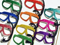 Items similar to Summer Photo Booth Props - Set of 10 GLITTER Swim Goggles with Snorkels - Birthdays, Weddings, Parties - Fun Photobooth Props on Etsy Photos Booth, Photo Booth Props, Accessoires Photobooth, Glitter Gifts, 11th Birthday, Summer Photos, Best Part Of Me, Perfect Wedding, Summer Wedding