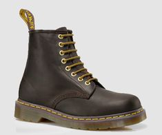 Martens 1460 Crazy Horse Leather Lace Up Boots in Aztec Crazy Horse Dr Martens 1460, Doc Martens Boots, Fall Fashion Boots, Fashion Shoes, Dr Martens Store, Leather Lace Up Boots, Everyday Shoes, Cool Boots, Style