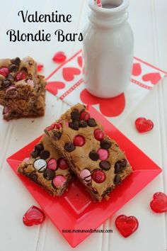 Valentine Blondie Bars - an easy recipe that you can make with your children!
