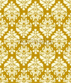 vintage yellow ochre wallpaper. So tacky, and yet still so awesome.