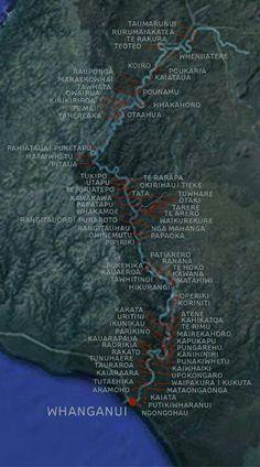 Whanganui River iwi. Long White Cloud, New Zealand North, South Island, Masters, Printing, River, Cartography, Maori, New Zealand