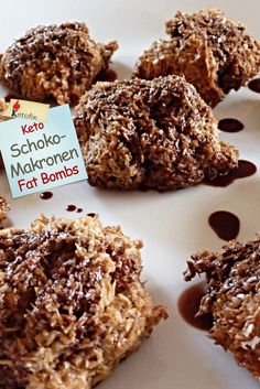 Keto Schoko Kokos Makronen Fat Bombs Rezept