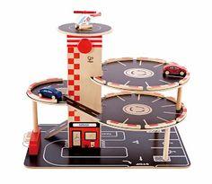 New from Hape Toys - Park & Go Garage.