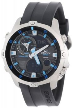 Relógio Casio Men's EMA100-1A Edifice Multi-Function Marine Line Analog Watch #relogio #casio