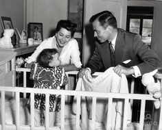 B'day celebrant James Mason with his wife Pamela and their daughter Portland ca 1949