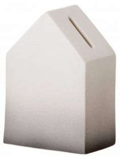 Ferm Living Spaarpot wit/donkergrijs porselein House of Money 5,5x12cm #ombre #myhomeshopping