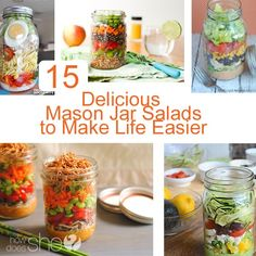 15 Delicious Mason Jar Salads to Make Life Easier