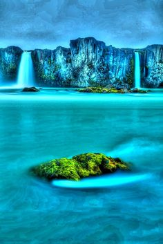 Waterfall of Gods - iceland i only believe in one God  the three in one .... God the Father God the Son and God the Holy Ghost but its pretty