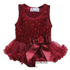 562092d92 Baby Romantic Wine Red Rosettes Bodysuit Pettidress Baby Tutu Dresses,  Little Girl Dresses, Tutu
